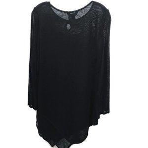 Ming Wang Black Asymmetrical Tunic